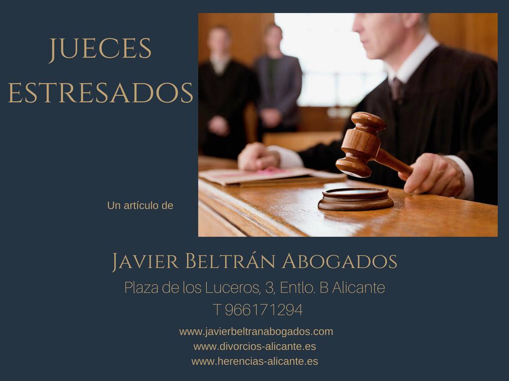 jueces estresados