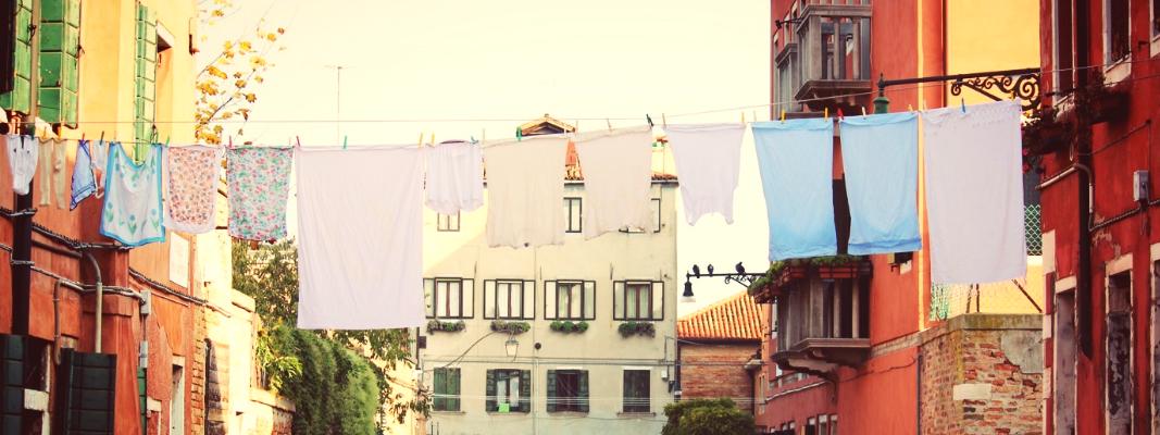 Las toallas al sol…
