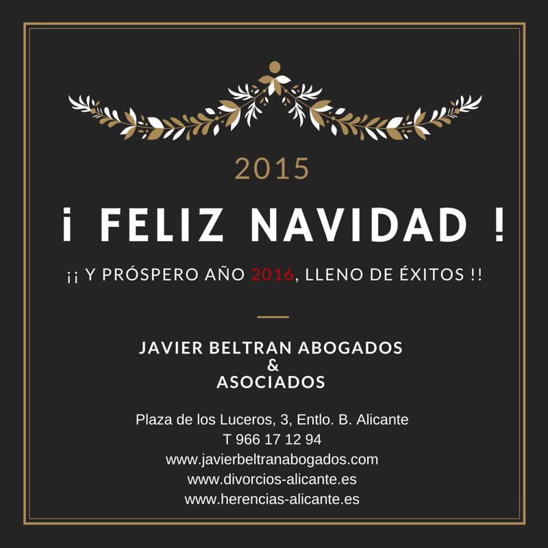Feliz Navidad desde Javier Beltrán Abogados.